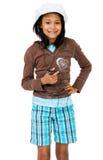amerykańskiej dziewczyny łaciński słuchanie mp3 zdjęcie royalty free