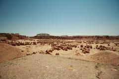 amerykańskiej dziwożony naturalnej początku prerii czerwonego piaskowa rzeźby niewiarygodna dolina Zdjęcie Stock