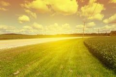 Amerykańskiej wiejskiej drogi Boczny widok zdjęcie stock