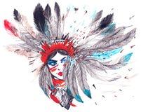Amerykańsko-indiański Ilustracja Wektor
