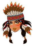 Amerykańsko-indiański fotografia royalty free