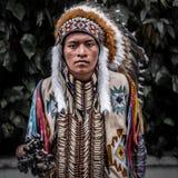 Amerykańsko-indiański Zdjęcia Stock