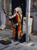 Amerykańsko-indiański bawić się instrumenty Istiklal Istanbuł obraz royalty free