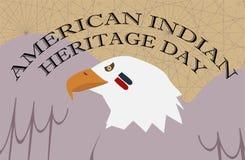 Amerykańsko-indiański dziedzictwo dzień Łysy Eagle z twarzy farbą Fotografia Royalty Free