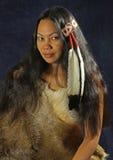 Amerykańsko-indiański Dziewczyna obrazy stock