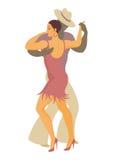 Ameryka Łacińska tana salsa Zdjęcie Royalty Free