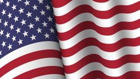 Ameryka flagi tła kolekcja Macha? projekt Współczynnik 16: 9 4th Lipa dnia niepodleg?o?ci poj?cie wektor ilustracja wektor