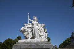 Ameryka grupa w Albert pomniku zdjęcie royalty free