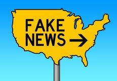 Ameryka imitaci wiadomość royalty ilustracja
