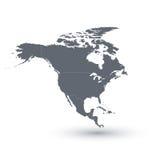 ameryka kontynentalna politycznej mapy na północ również zwrócić corel ilustracji wektora Zdjęcia Stock