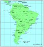 ameryka mapy na południe ilustracji