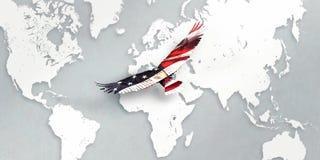 Ameryka, patriotyczny orzeł royalty ilustracja