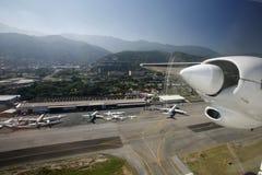 AMERYKA POŁUDNIOWA WENEZUELA CARACAS lotnisko obraz stock