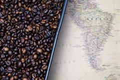 Ameryka Południowa kawowe fasole Obrazy Stock