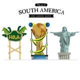 Ameryka Południowa ustawia - Obraz Stock