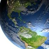Ameryka Środkowa na planety ziemi Zdjęcie Royalty Free