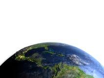 Ameryka Środkowa na planety ziemi Obrazy Stock