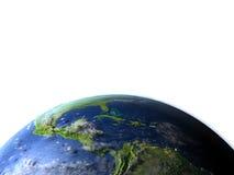 Ameryka Środkowa na planety ziemi Zdjęcia Stock