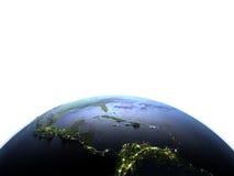 Ameryka Środkowa na planety ziemi Zdjęcia Royalty Free