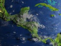 Ameryka Środkowa na planety ziemi Fotografia Stock