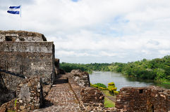 Ameryka Środkowa, Nikaragua, El Castillo Obraz Royalty Free