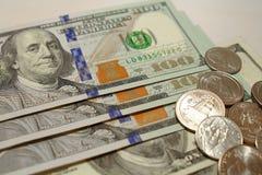 Amerykańscy Dolarowi Rachunki Obraz Royalty Free