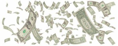 amerykańscy dolary jeden deszcz Fotografia Stock