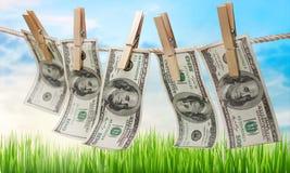 Amerykańscy dolary na arkanie Zdjęcie Royalty Free