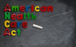 Amerykańska opieka zdrowotna aktu ilustracja na chalkboard Zdjęcie Royalty Free