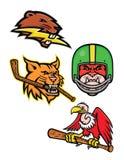 Amerykańska przyroda sportów maskotki kolekcja Zdjęcie Stock