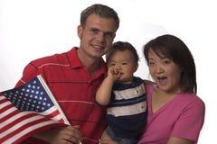 amerykańska rodzina Zdjęcia Stock