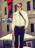 Amerykański biznesmen na Wall Street Zdjęcia Royalty Free
