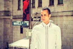 Amerykański biznesmen na Wall Street Obrazy Royalty Free