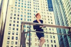 Amerykański bizneswoman pracuje w Nowy Jork obrazy royalty free