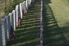 Amerykański Cywilnej wojny cmentarz Obrazy Stock