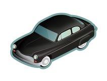 amerykański czarnym samochodzie, stary Obrazy Royalty Free