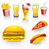 amerykański fast food Obraz Royalty Free