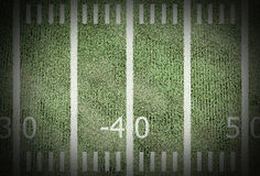 amerykański futbol pola Fotografia Stock