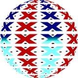 amerykański globe lokalne Zdjęcie Royalty Free