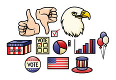 Amerykański ikona set ilustracja wektor