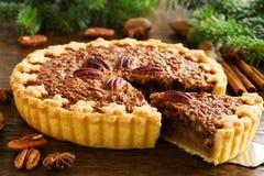 Amerykański klasyka tort z pecans Zdjęcie Stock