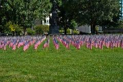amerykański pokaz flagi wakacje Zdjęcia Stock