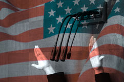 Amerykański polityk w parlamentarnej debacie Obraz Royalty Free