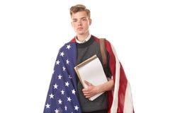 Amerykański student uniwersytetu Zdjęcia Stock