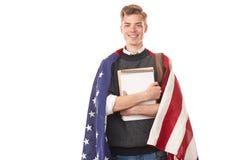 Amerykański student uniwersytetu Fotografia Royalty Free