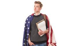 Amerykański student uniwersytetu Obraz Royalty Free