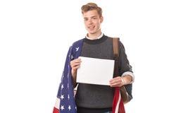 Amerykański student uniwersytetu Fotografia Stock