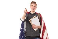 Amerykański student uniwersytetu Obrazy Stock
