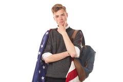 Amerykański student uniwersytetu Zdjęcia Royalty Free