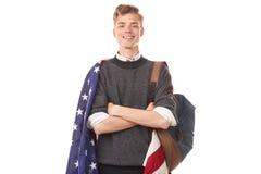 Amerykański student uniwersytetu Zdjęcie Royalty Free